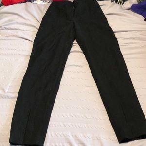 Black high waisted ankle length pants